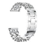 123Watches.nl Fitbit versa cowboy stalen schakel band - zilver