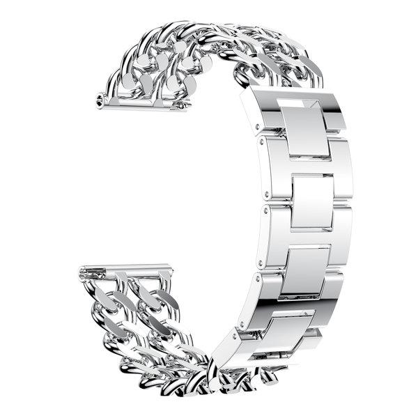 123Watches Fitbit versa cowboy stalen schakel band - zilver