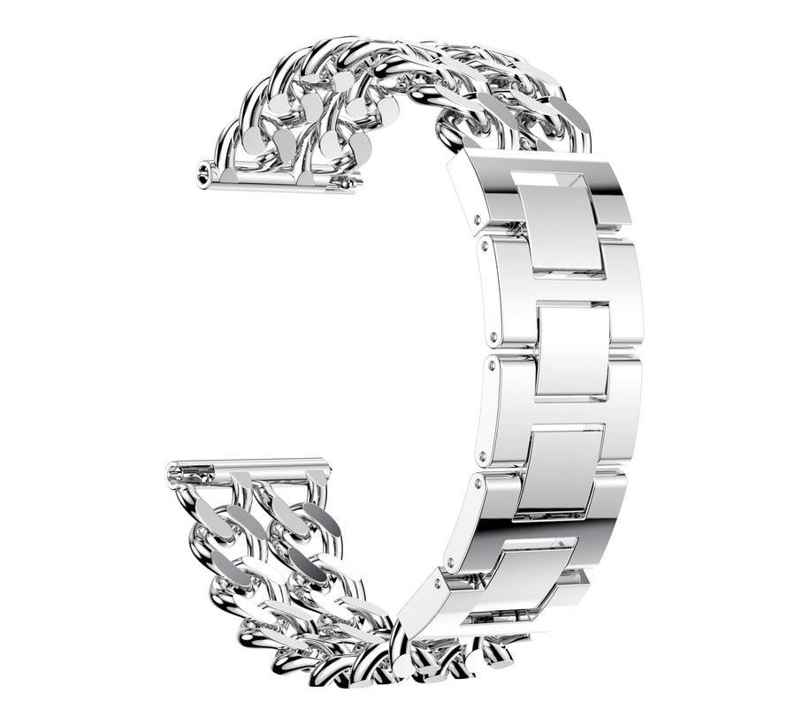 Fitbit versa cowboy stalen schakel band - zilver