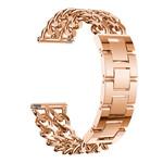 123Watches.nl Fitbit versa cowboy stalen schakel band - rose goud
