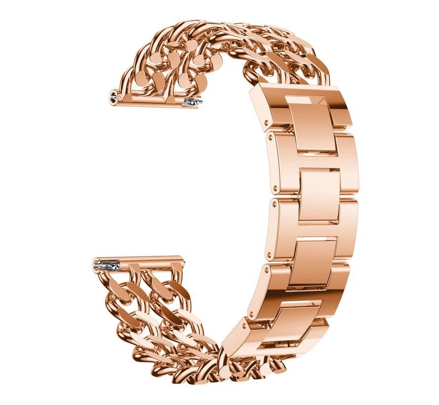 Fitbit versa cowboy steel link band - rose gold
