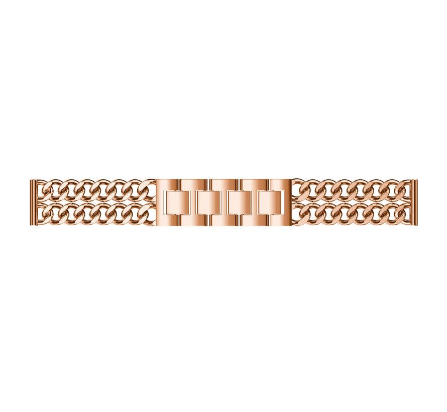Fitbit versa cowboy stahlgliederband - roségold