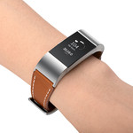 123Watches Fitbit charge 2 premium leren band - bruin