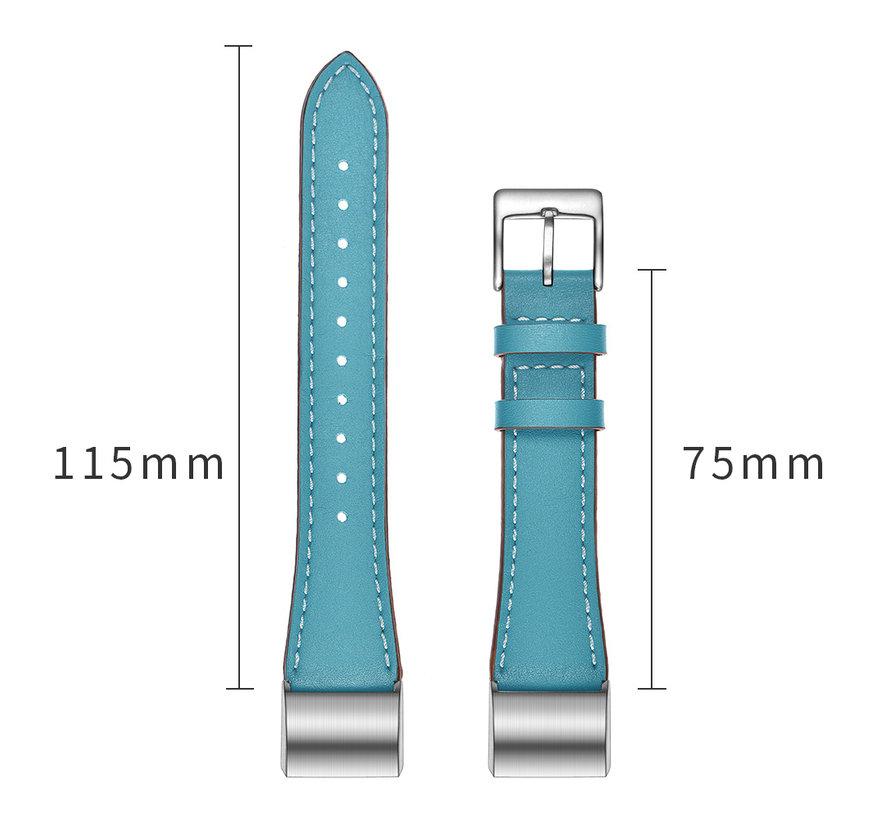 Fitbit Charge 2 Premium Lederband - hellblau