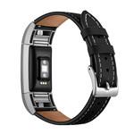 123Watches Fitbit charge 2 premium leren band - zwart