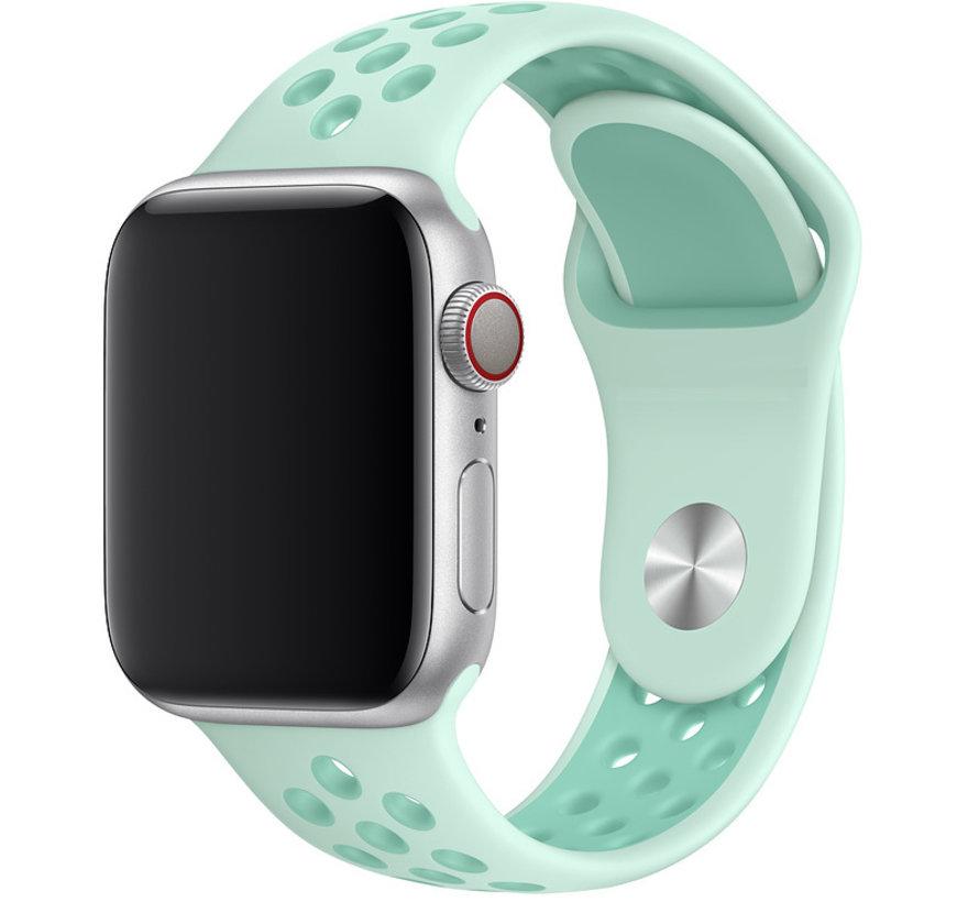 Apple watch dubbel sport band - groenblauw tint tropische twist