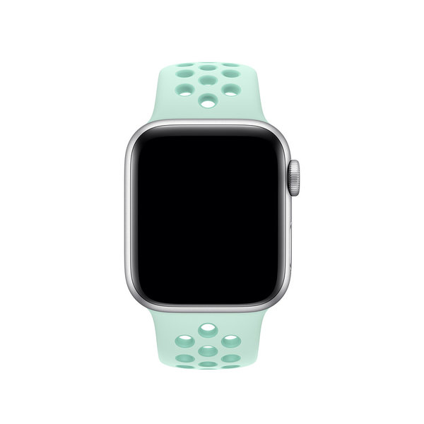 123Watches Apple watch double sport band - teal tint tropical twist