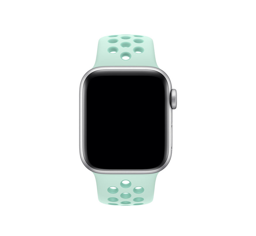 Apple watch double sport band - teal tint tropical twist