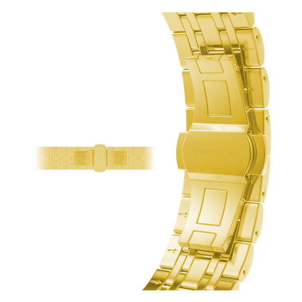 123Watches Apple watch stainless steel link band - gold
