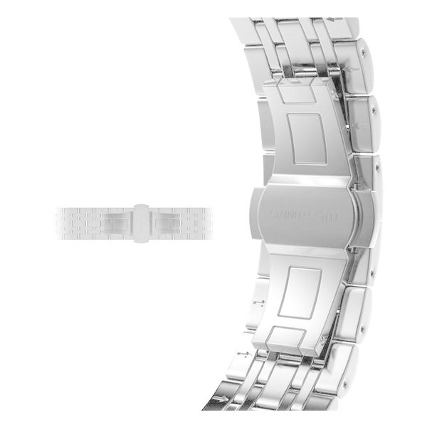 123Watches Apple watch stainless steel link band - silver rose gold