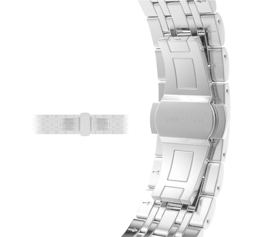 Apple watch stainless steel link band - silver