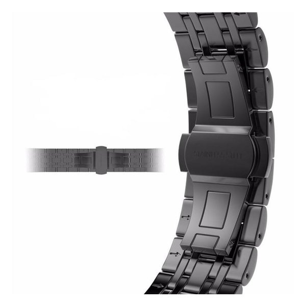 123Watches.nl Apple watch verbindungsglied aus edelstahl - schwarz