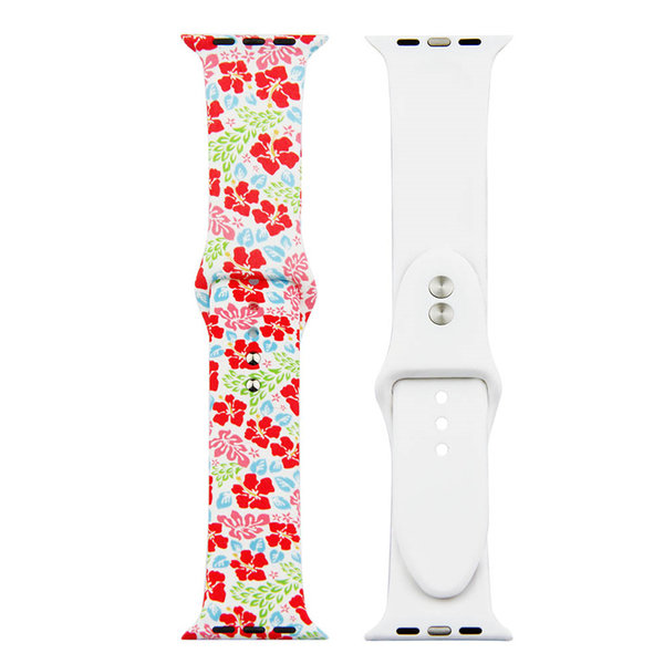 123Watches.nl Apple watch print sport band - flowers multi