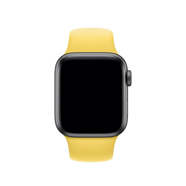 123Watches Apple watch sport band - canary yellow