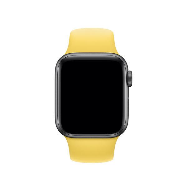 123Watches Apple Watch sport sangle - jaune canari
