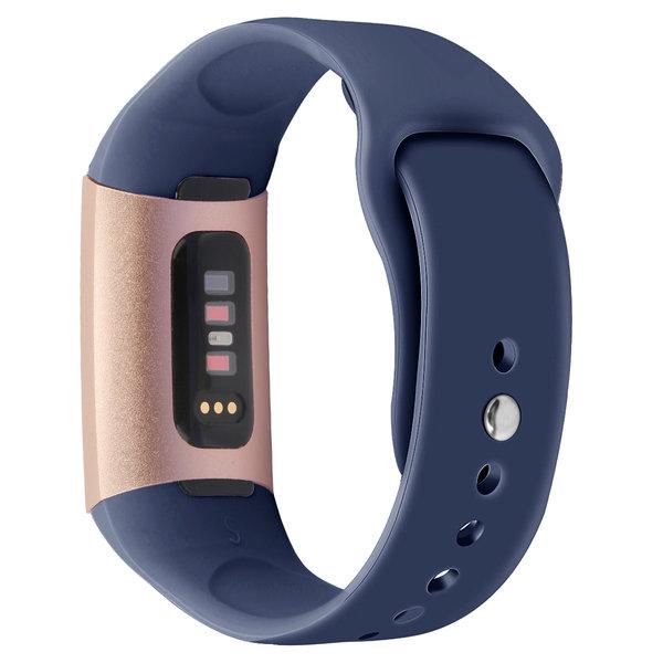 123Watches.nl Fitbit charge 3 sport silicone bande - bleu foncé