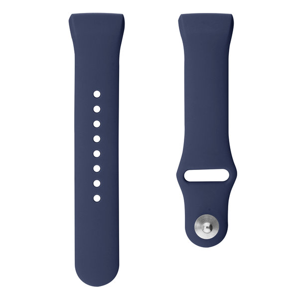 123Watches.nl Fitbit charge 3 sport silicone band - dark blue