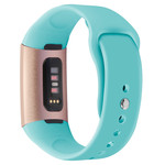 123Watches.nl Fitbit charge 3 sport silicone band - green