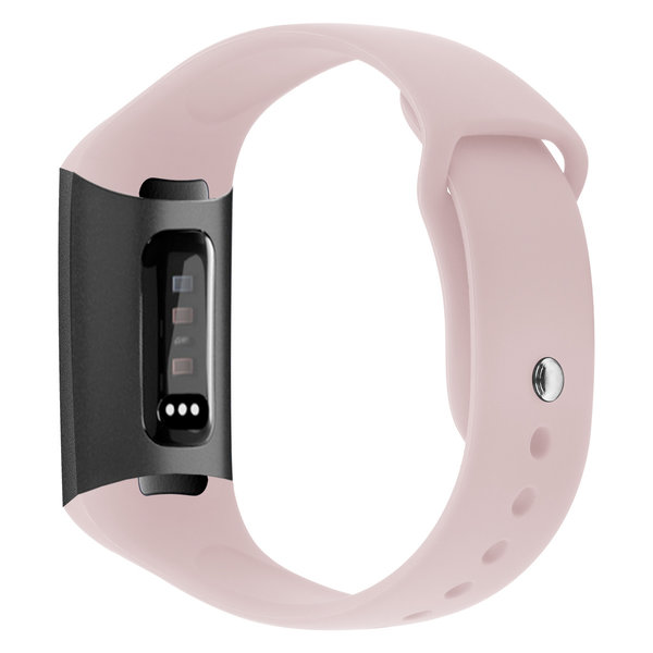 123Watches Fitbit charge 3 & 4 sport silicone band - pink sand