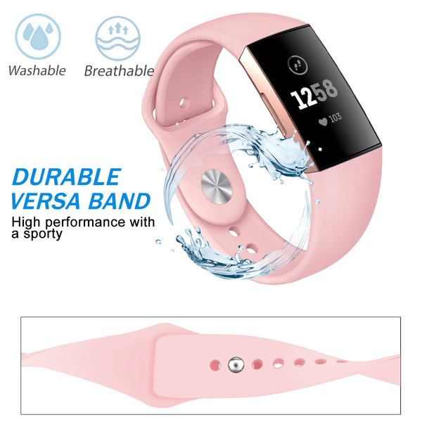 123Watches Fitbit charge 3 & 4 sport silicone band - roze