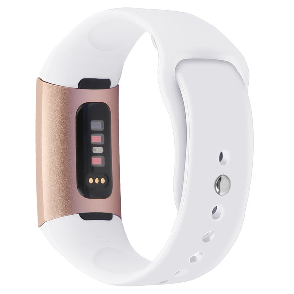 123Watches.nl Fitbit charge 3 sport silicone band - white