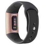 123Watches.nl Fitbit charge 3 sport silicone band - zwart