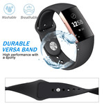 123Watches Fitbit charge 3 & 4 sport silicone band - black