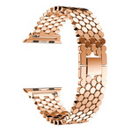 123Watches Apple watch fish steel link - rose gold