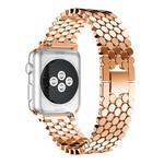 123Watches Apple watch vis stalen schakel band - rose goud