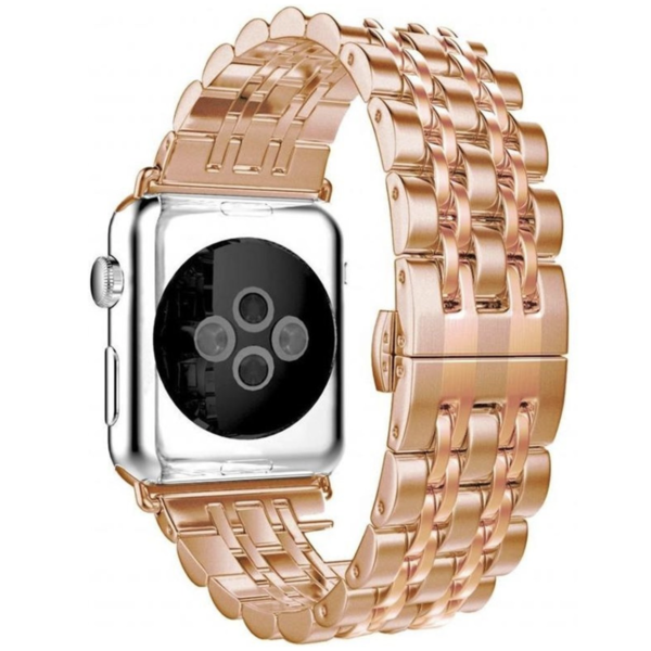 123Watches.nl Apple watch stainless steel link band - rose gold