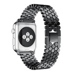123Watches Apple watch fish steel link - black
