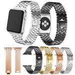 123Watches.nl Apple watch Fischstahl Gliederband - Gold