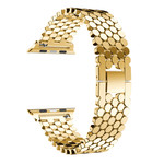 123Watches Apple watch fish steel link - gold