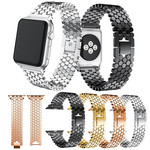 123Watches.nl Apple watch vis stalen schakel band - zilver