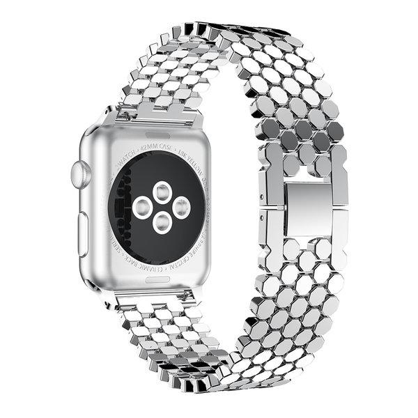123Watches Apple watch vis stalen schakel band - zilver
