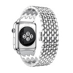123Watches Apple watch dragon steel link - silver