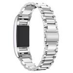 123Watches Fitbit charge 2 3 kralen stalen schakel band - zilver