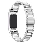 123Watches.nl Fitbit charge 2 3 beads steel link - silver
