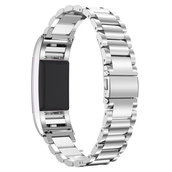 123Watches.nl Fitbit charge 2 3 Perlen Gliederband - Silber