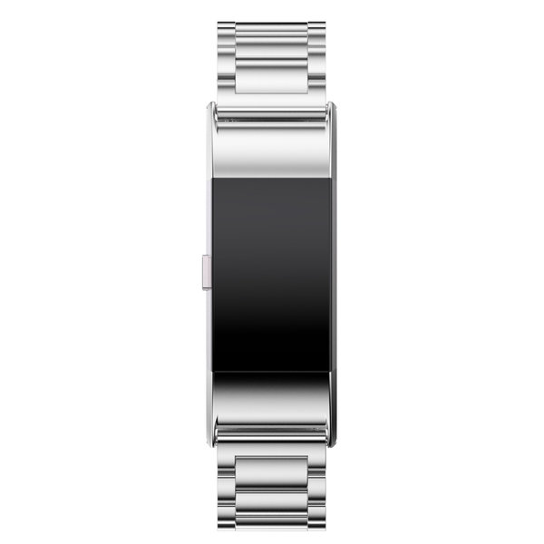 123Watches Fitbit charge 2 3 beads steel link - silver