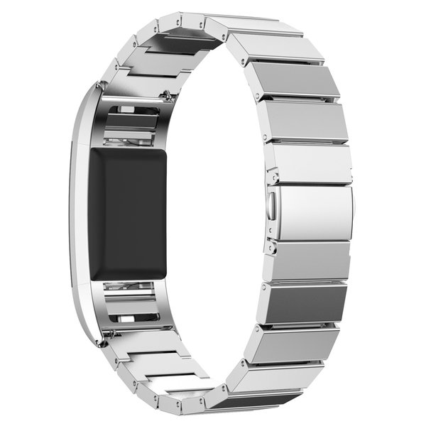 123Watches.nl Fitbit charge 2 steel link - silver