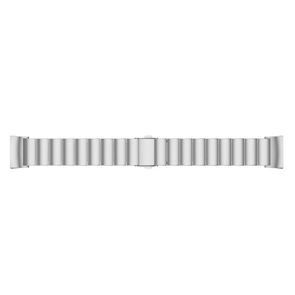 123Watches Fitbit charge 3 & 4 stalen schakel band - zilver