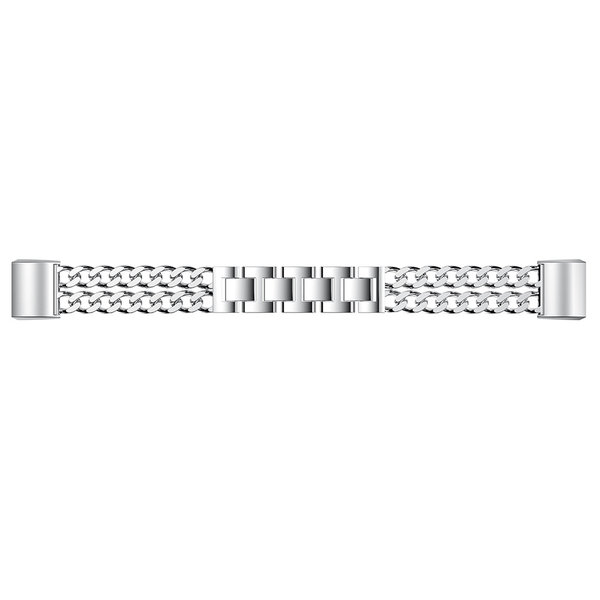 123Watches Fitbit charge 3 & 4 cowboy steel link - silver