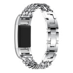 123Watches Fitbit charge 3 & 4 cowboy stalen schakel band - zilver