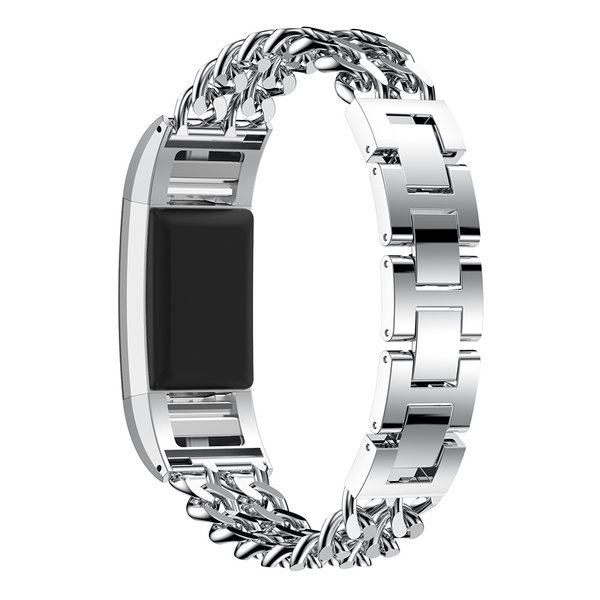 123Watches.nl Fitbit charge 3 cowboy Gliederband - Silber