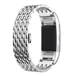 123Watches.nl Fitbit charge 3 Drache Gliederband - Silber