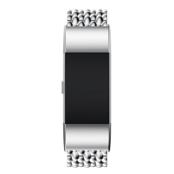 123Watches.nl Fitbit charge 3 draak stalen schakel band - zilver