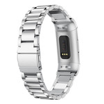 123Watches.nl Fitbit charge 3 beads steel link - silver