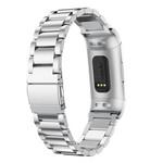 123Watches.nl Fitbit charge 3 kralen stalen schakel band - zilver