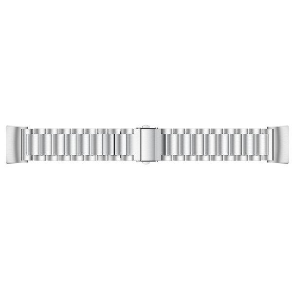 123Watches Fitbit charge 3 & 4 kralen stalen schakel band - zilver